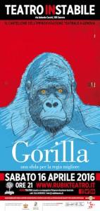 RUBIK TEATRO_Gorilla 16 aprile 2016_Teatro Instabile_locandina