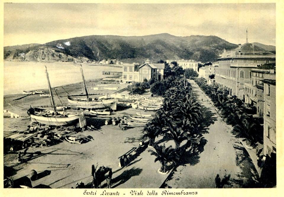 Via della Rimembranza in una foto storica